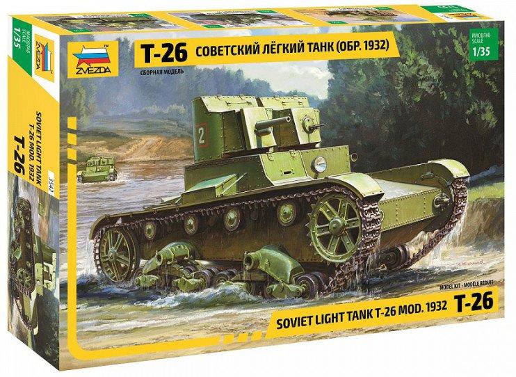 Сборная модель ZVEZDA Советский легкий танк Т-26 (обр. 1932г.) (3542) 1:35 фото