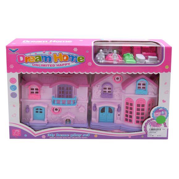 Купить НАША ИГРУШКА Дом с аксессуарами Моя мечта , 14 предметов [1339], Наша игрушка, розовый, пластик, Кукольные домики
