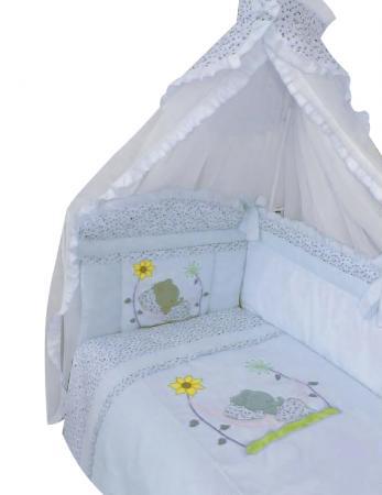 Купить ЗОЛОТОЙ ГУСЬ Комплект в кроватку Сладкий сон (цвет: голубой, 7 предметов) [1092], Хлопок, Для мальчиков, Постельное белье для малышей