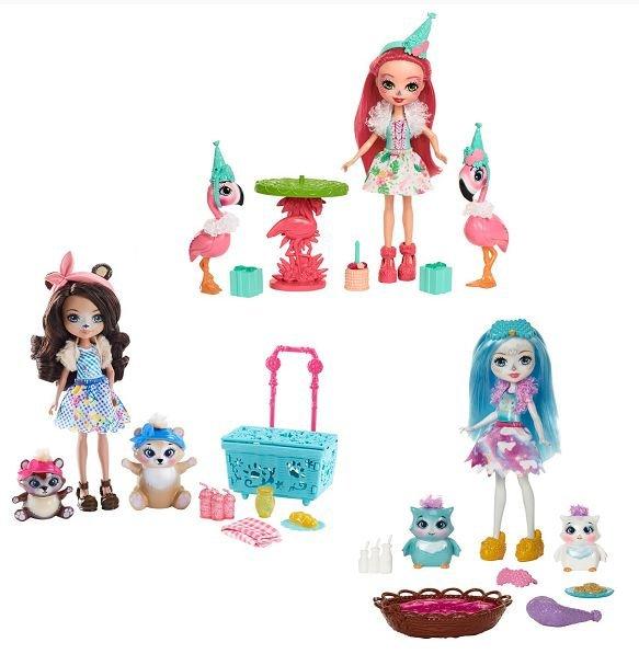 Купить MATTEL Кукла со зверушкой и тематическим набором Enchantimals [FCC62], пластмасса, Играем в салон красоты