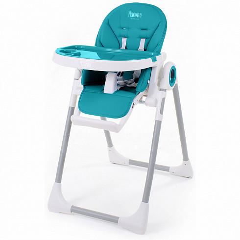 Купить NUOVITA Стульчик для кормления Grande , цвет: бирюзовый [Q1 405], Бирюзовый, пластик, сталь, эко-кожа, Для мальчиков, Стульчики для кормления малышей