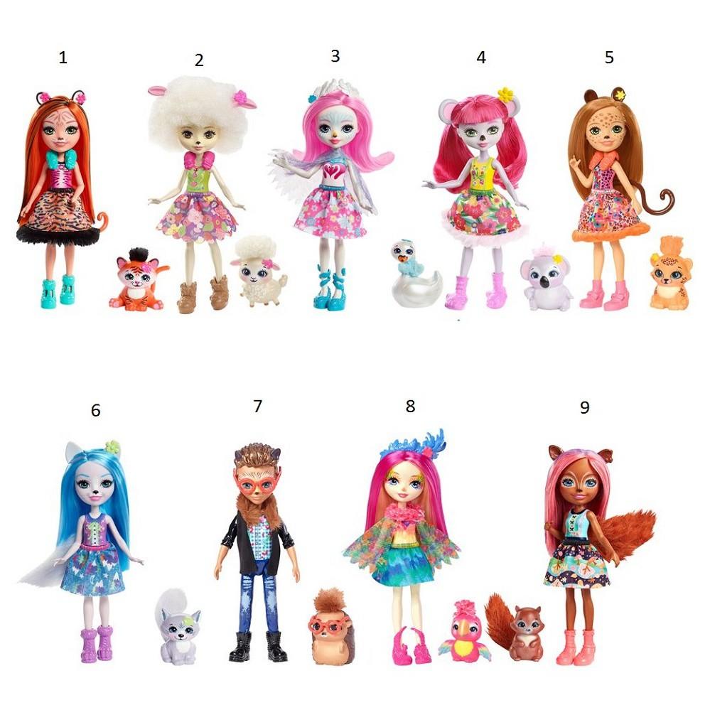 Купить MATTEL Кукла Enchantimals с питомцем [FNH22], пластик, Текстиль, плюш, Для девочек, Куклы и пупсы