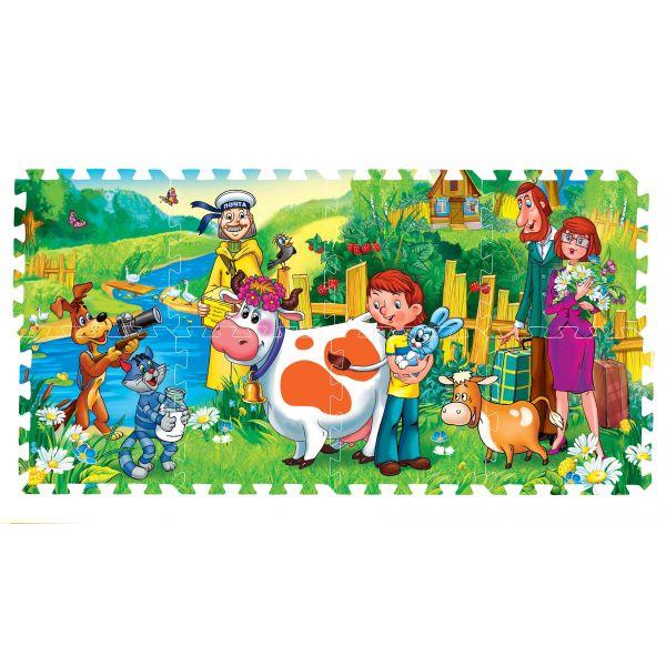 Купить ИГРАЕМ ВМЕСТЕ Коврик-пазл Простоквашино , 8 сегментов [FS-PRO], Развивающие коврики для малышей