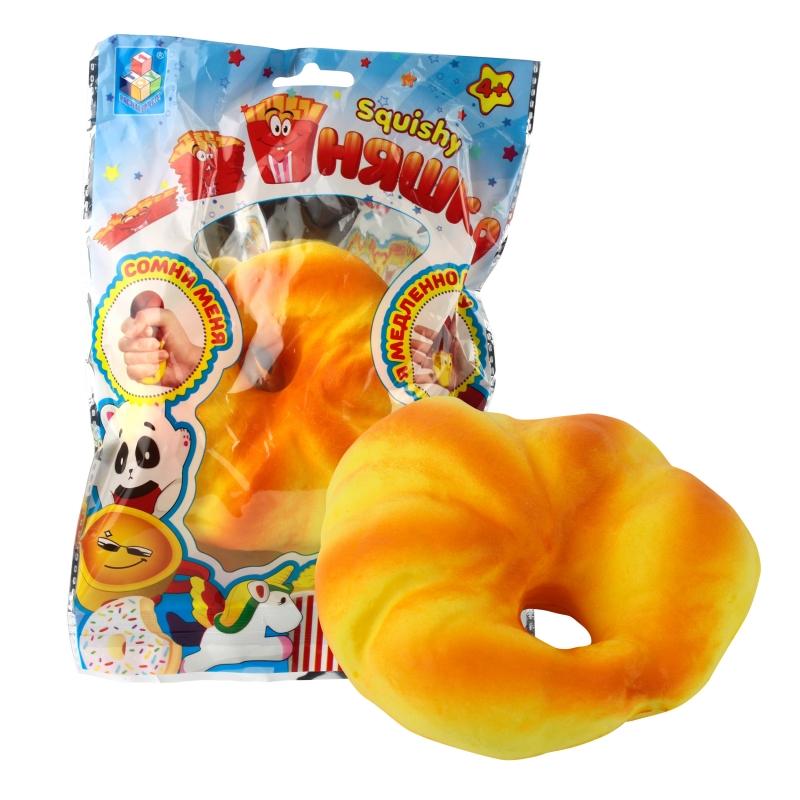Купить 1 TOY игрушка-антистресс мммняшка squishy (сквиши), рогалик [Т12398], Для мальчиков и девочек, Игрушки-антистресс