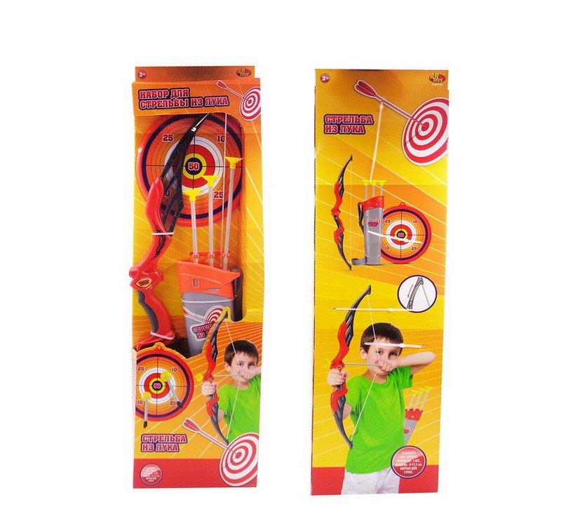Купить Лук со стрелами на присосках, в наборе 3 стрелы, колчан и лук [S-00158], ABtoys, Игрушечное оружие и бластеры