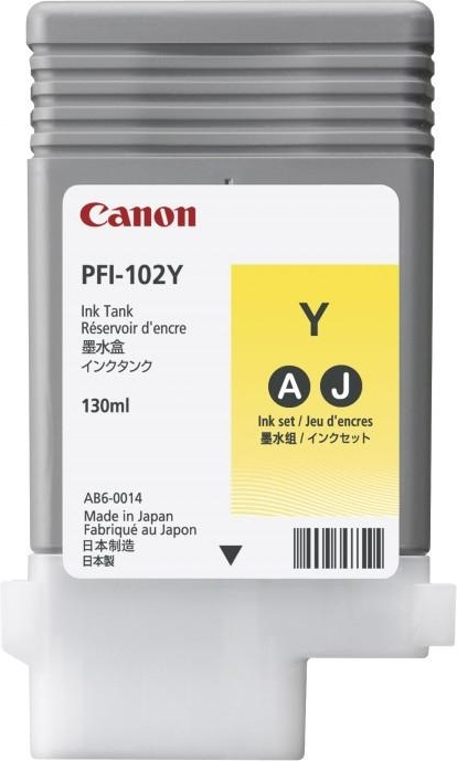 Картинка для Струйный картридж Canon PFI-102Y Yellow (0898B001)
