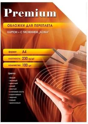Купить Обложки для переплёта Office Kit картон А4 Кожа, белые 230 г/м2, 100 шт СWA400230, Китай
