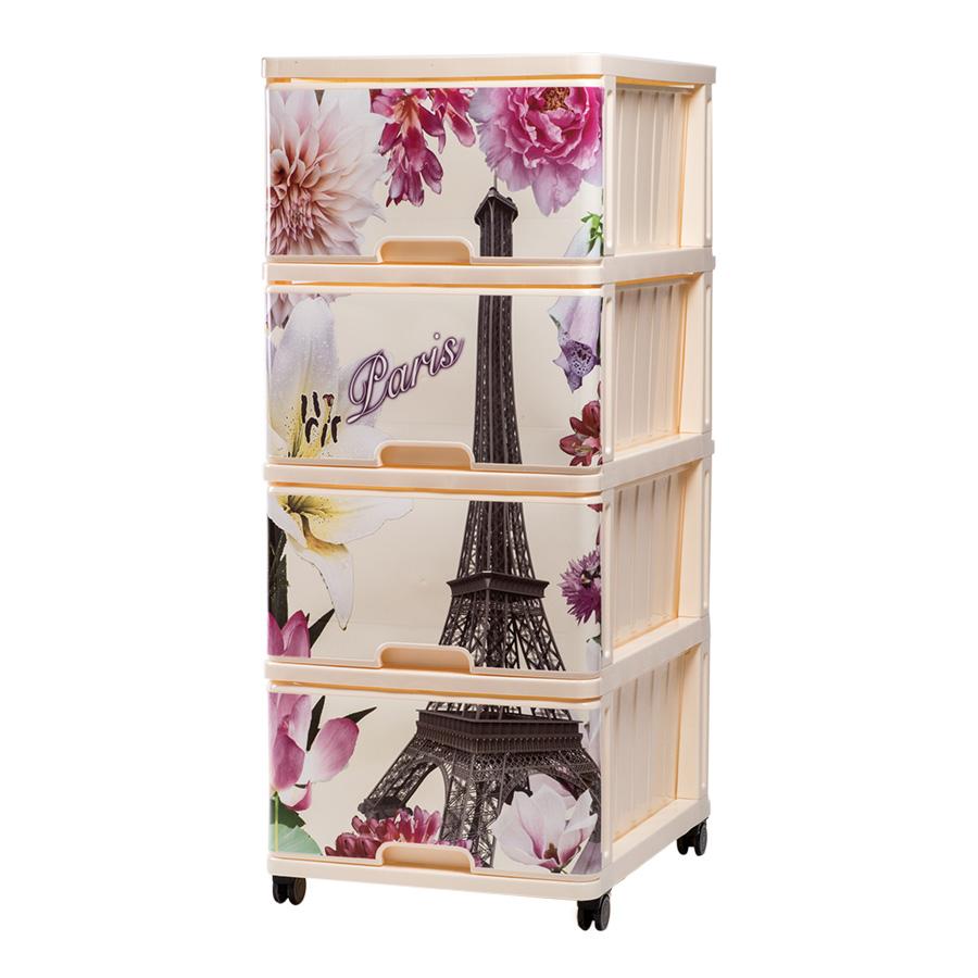 Купить DUNYA Комод с рисунком ПАРИЖ [40320], Dunya plastik, Принадлежности для хранения игрушек