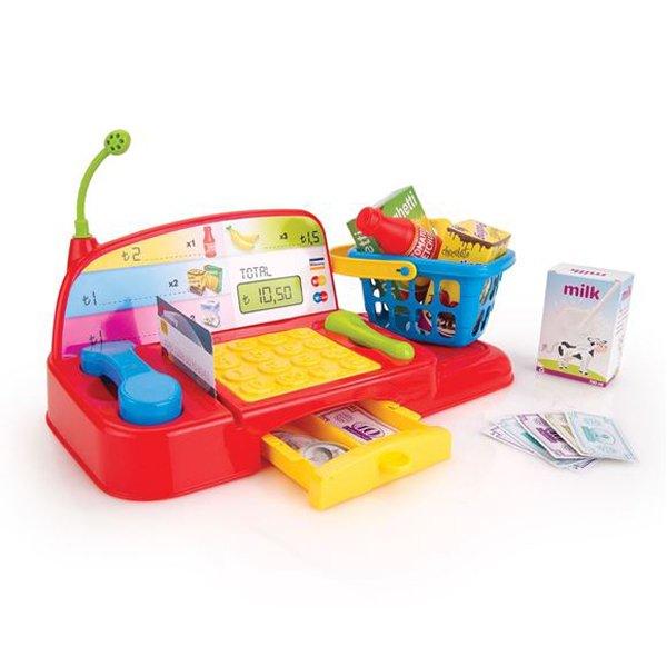 Купить DOLU Игровой набор кассовый аппарат с аксессуарами [DL_6018], 21 x 37 x 34 см, пластик, Играем в магазин