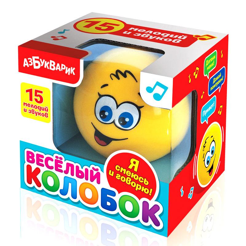 Купить Игрушка АЗБУКВАРИК 80134 Весёлый колобок, пластик, Для мальчиков и девочек, Китай, Развивающие игрушки для малышей