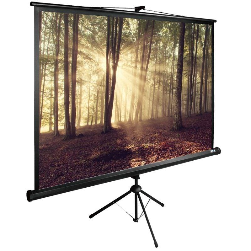 Картинка для Экран напольный рулонный Cactus Tri Expert (CS-PSTE-180x135-BK) 4:3 135x180 см