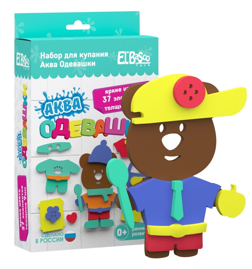 Купить Набор EL BASCO 08-002 Аква Одевашка Мишка, ЭВА, Для мальчиков и девочек, Россия, Детские игрушки для ванной
