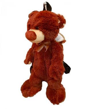 Купить RUDNIX Игрушка мягкая Рюкзак. Мишка [0241/РД], коричневый, пластик, Текстиль, наполнитель, Мягкие игрушки