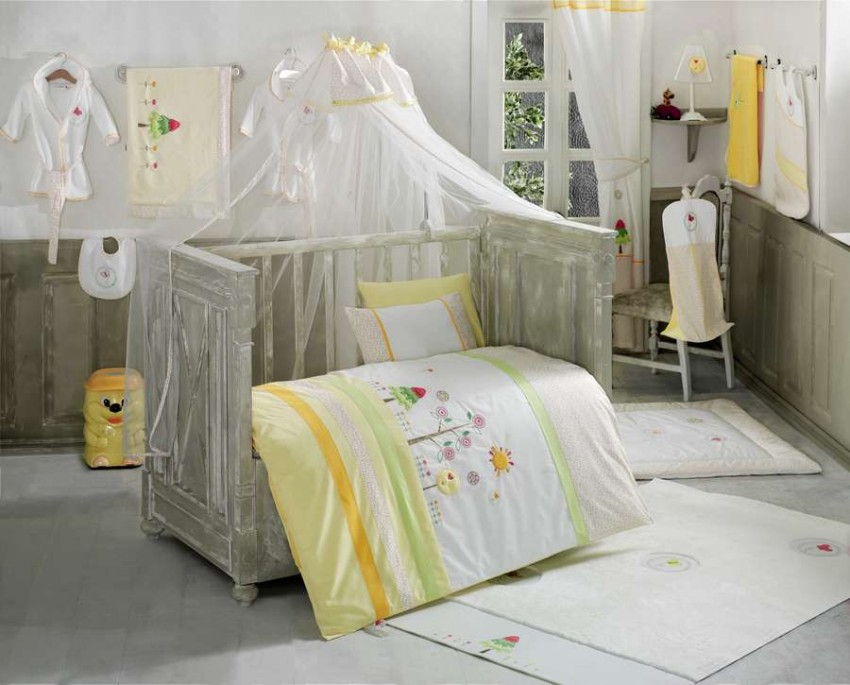 Купить KIDBOO Комплект постельного белья Sunny Day (3 предмета) [00-0012155], белый, многоцветный, Хлопок, Для мальчиков и девочек, Постельное белье для малышей