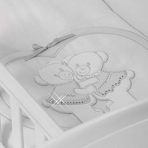Купить FERETTI Набор в люльку для близнецов Baby Beddings Culla Gemell (цвет: bianco) [BB-CG-01], белый, Хлопок, синтепон, Для мальчиков и девочек, Покрывала, подушки, одеяла для малышей