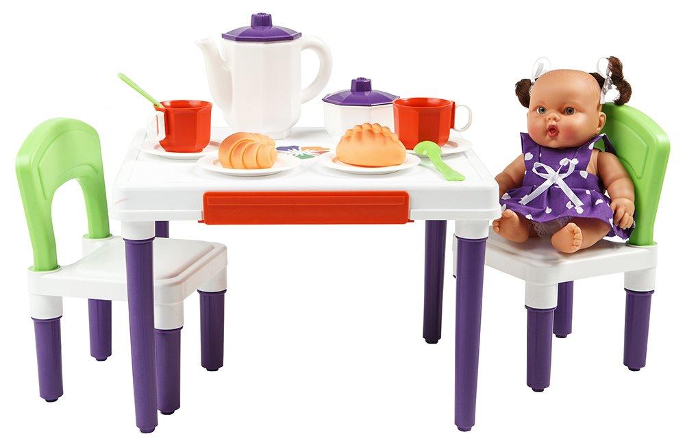 Купить С-257 зеленые спинки, ОГОНЁК Набор мебели для кухни Малыш (С-257), Огонек, пластик, Россия, Мебель для кукол