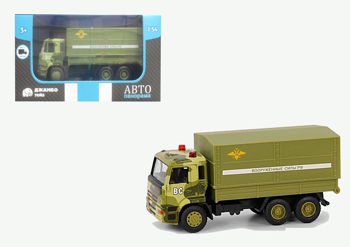 Купить АВТОПАНОРАМА Машинка металлическая Вооруженные силы РФ [1200093], хаки, пластик, Металл, Игрушечные машинки и техника