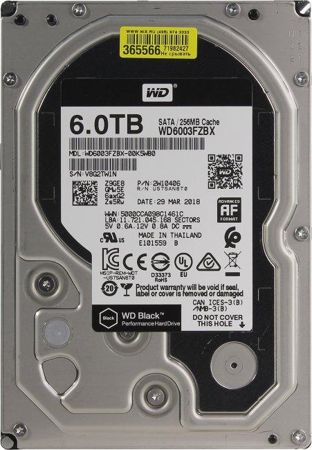 Жесткий диск 6 Тб Western Digital WD Black (WD6003FZBX) 3.5