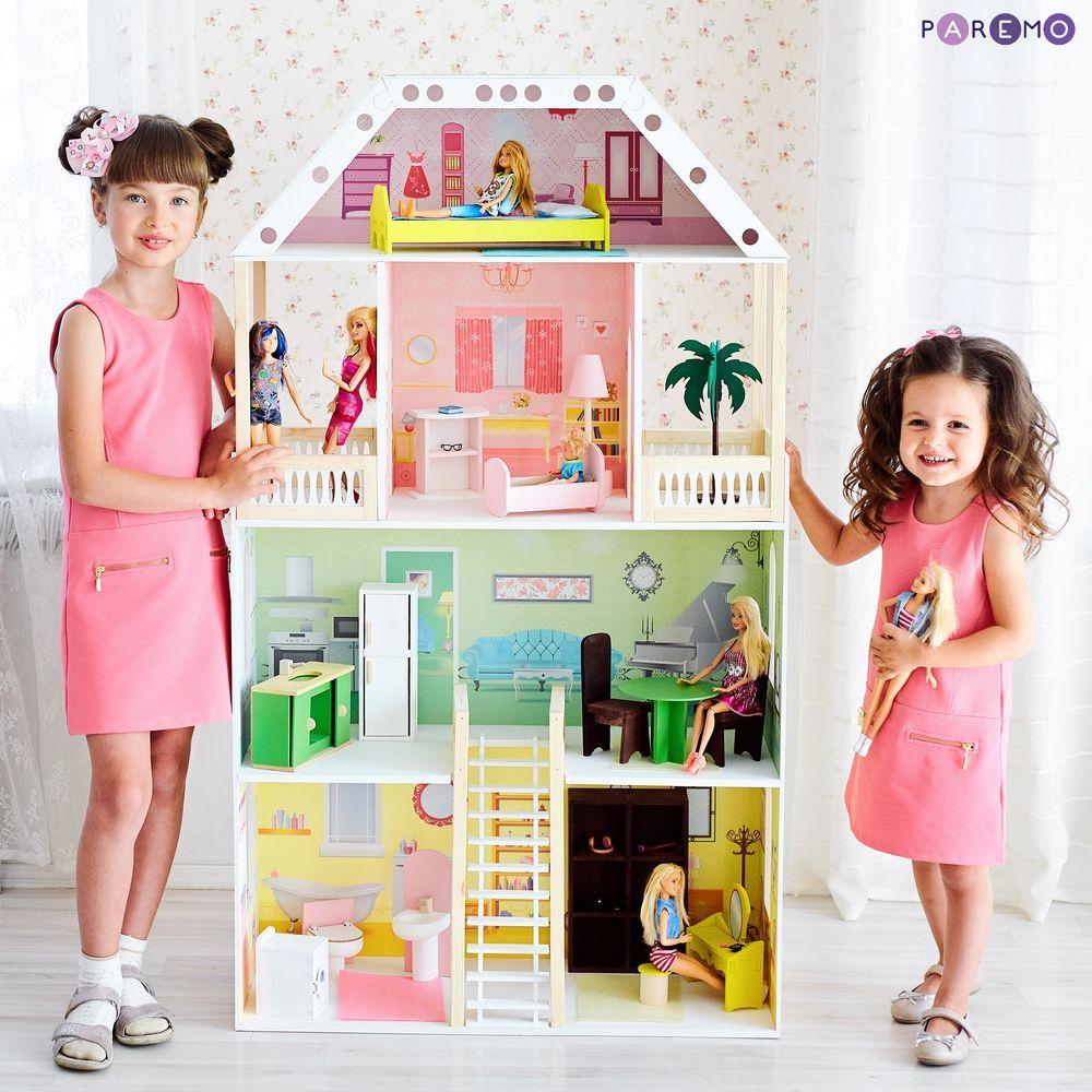 Купить PAREMO Кукольный домик Поместье Шервуд (с мебелью) [PD318-01], 76 x 33 x 135 см, Дерево, МДФ, Кукольные домики