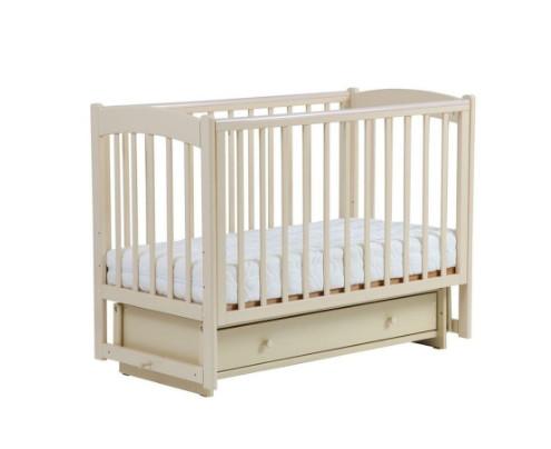 Купить КУБАНЬЛЕССТРОЙ Кровать детская Кубаночка-3 , с маятником (цвет: слоновая кость) [39], массив бука, Кроватки детские