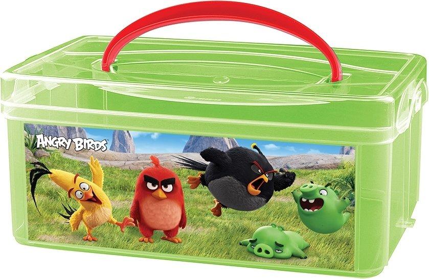 Купить ANGRY BIRDS КОРОБКА УНИВЕРСАЛЬНАЯ С РУЧКОЙ С АППЛИКАЦИЕЙ ANGRY BIRDS 245х160х108 мм245*160*108 [431264909], Принадлежности для хранения игрушек