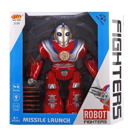 Купить НАША ИГРУШКА Робот на радиоуправлении, 6 каналов [2135-2], красный, пластмасса, Игрушечные роботы и трансформеры