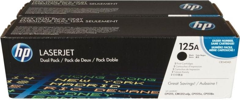 Набор лазерных картриджей HP 125A Black (CB540AD) фото