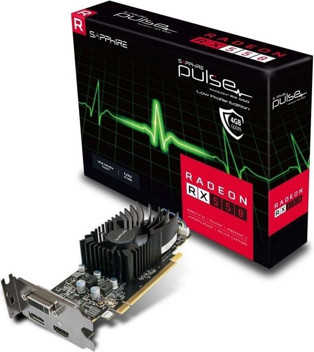 Видеокарта Sapphire RX 550 Pulse 4GD5 Low Profile RTL (11268-09-20G)