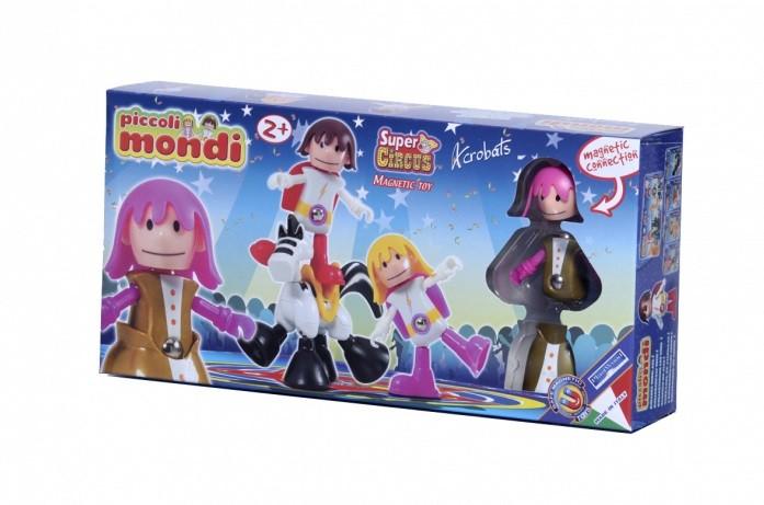 Купить PLASTWOOD Магнитный конструктор Piccoli Mondi Super Circus , цвет: Acrobats [0531], пластик, Металл, Конструкторы