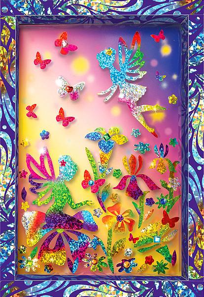 Купить КЛЕВЕР Набор для изготовления картины Клевер Феи в волшебном лесу , 29x20x3 см, арт. АС 46-247 [АС 46-247], Наборы для создания украшений