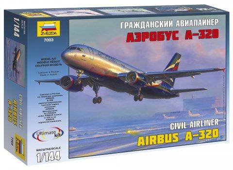 Купить Модель для склеивания ZVEZDA 7003 Самолет Аэробус а-320 , пластик, Для мальчиков и девочек, Россия, Сборные игрушечные модели