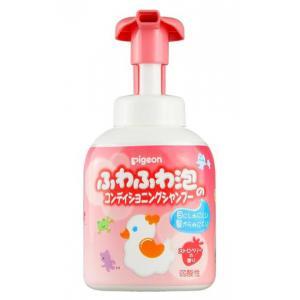 Купить Шампунь-пенка для детей Pigeon 18+мес флакон-дозатор 350 мл, Япония, Средства для купания малышей