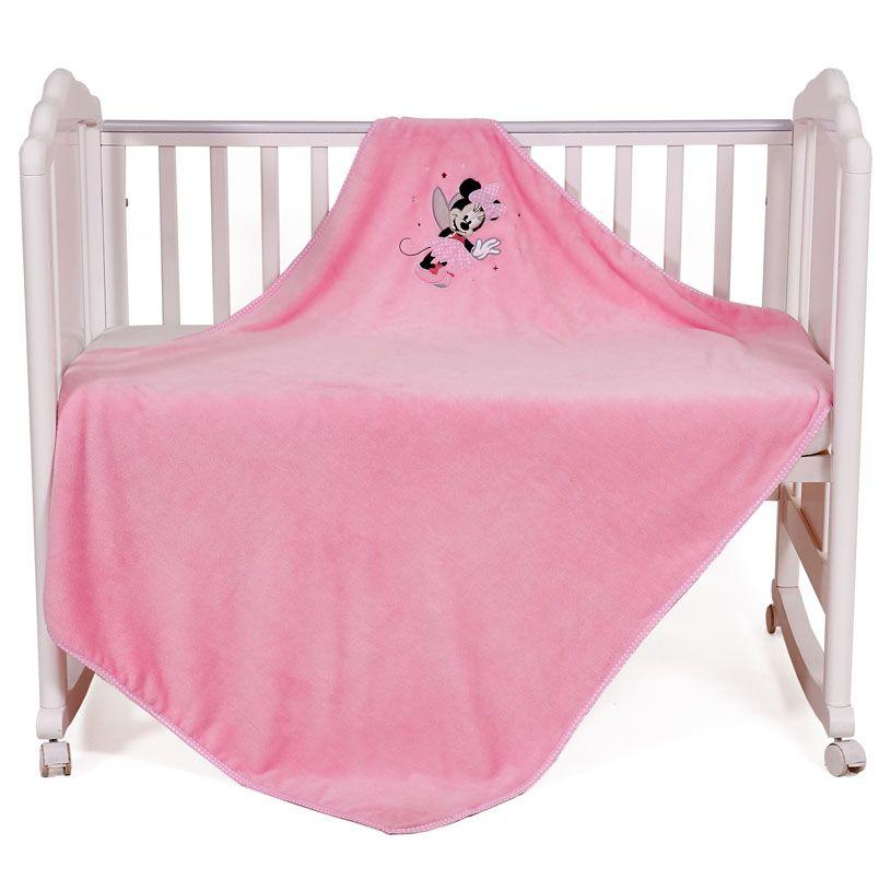 Купить POLINI Плед детский Polini kids Disney baby Минни Маус , розовый, велсофт, Покрывала, подушки, одеяла для малышей