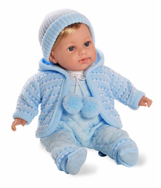 Купить MUNECAS ARIAS Кукла ARIAS , в голубом комбинезончике, 42 см [Т11102], голубой, Текстиль, винил, Для мальчиков, Испания, Куклы и пупсы