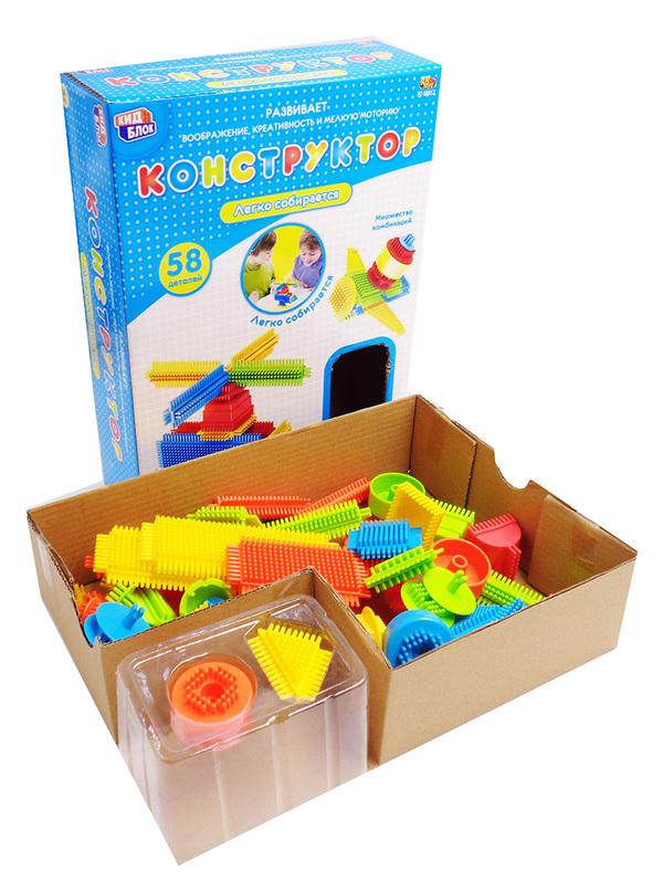Купить KIDBLOCK Конструктор со щетинками, 58 деталей [PT-00857], Конструкторы