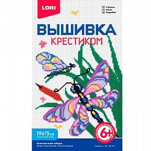 Купить LORI Вышивка крестиком мулине Стрекозы [Вм-012], Товары для изготовления кукол и игрушек