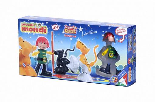 Купить PLASTWOOD Магнитный конструктор Piccoli Mondi Super Circus , цвет: Lion Tamer [0532], пластик, Металл, Конструкторы
