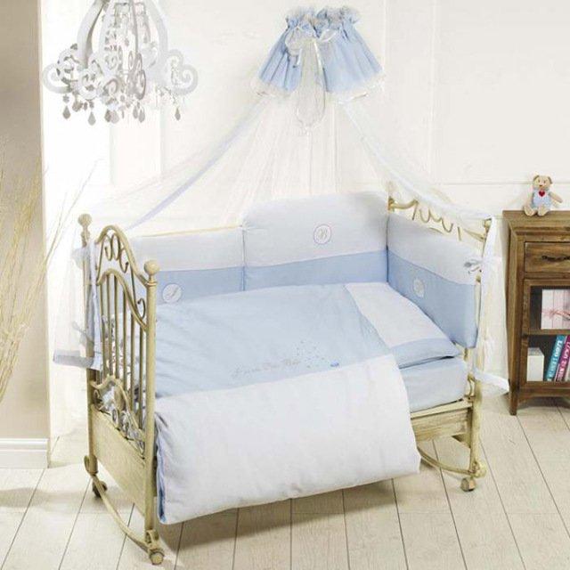 Купить FERETTI Комплект в кроватку Petit Bebe (цвет: blue, 6 предметов) [00-0013964 ], Голубой, Хлопок, синтепон, Для мальчиков и девочек, Постельное белье для малышей