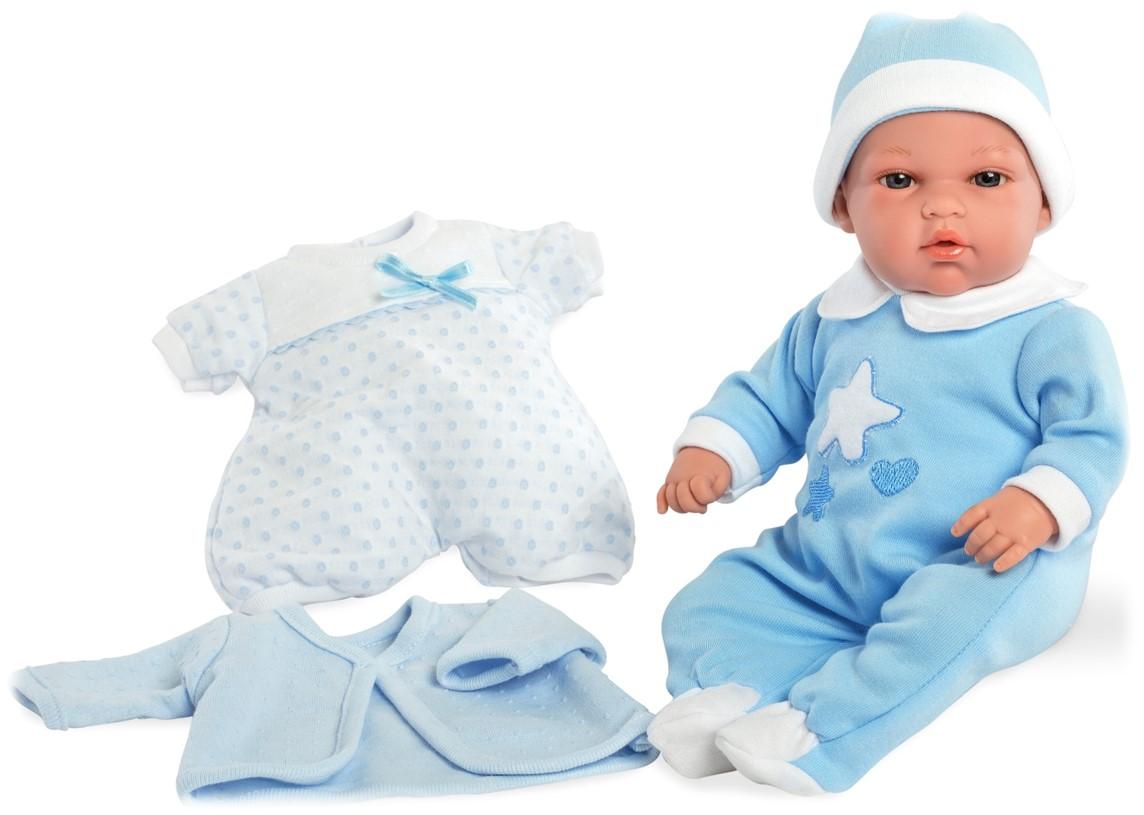 Купить MUNECAS ARIAS Пупс ARIAS Elegance в голубом комбинезоне и голубой шапочке, 33 см [Т13724], 375 x 140 x 290 мм, Текстиль, винил, Куклы и пупсы