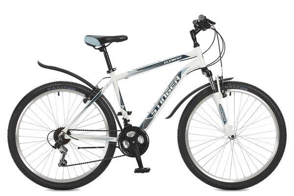Купить STINGER Велосипед Element, белый [26AHVELEM16WH7], Велосипеды для взрослых и детей