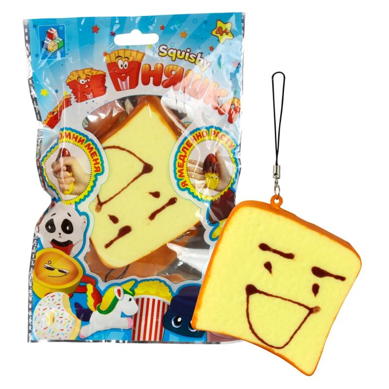 Купить 1 TOY игрушка-антистресс мммняшка squishy (сквиши), тост [Т12408], Для мальчиков и девочек, Игрушки-антистресс
