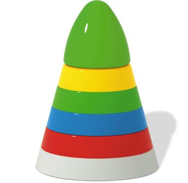 Купить СТЕЛЛАР Пирамидка Ракета большая [1530], Россия, Пирамидки для малышей