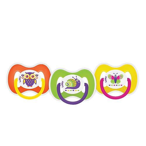 Купить LUBBY Пустышка силиконовая Русские мотивы со скошенным соском (с кольцом и колпачком), 0+ [15928], Силикон, полипропилен, Пустышки и аксессуары