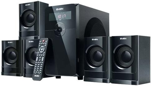 Комплект акустики 5.1 Sven HT-200 Black, Черный  - купить со скидкой
