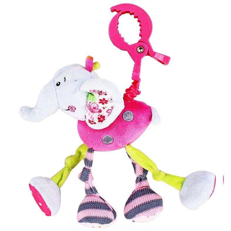 Купить ЖИРАФИКИ Подвеска с вибрацией Слонёнок Тим [93567], Жирафики, Подвески для малышей