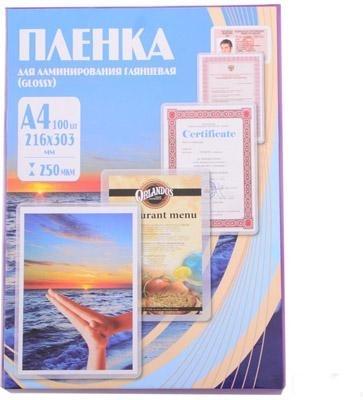 Купить Пленка для ламинирования Office Kit 216х303 (250 мик) 100 шт (PLP12123-1), Китай