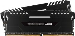 Оперативная память 16Gb DDR4 2666MHz Corsair Vengeance LED (CMU16GX4M2A2666C16) (2x8Gb KIT)