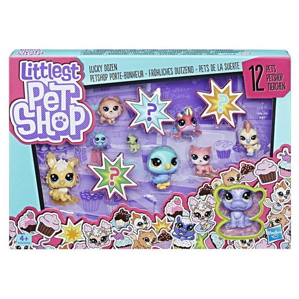 Купить HASBRO Набор игровой Littlest Pet Shop. 12 Счастливых Петов [E3034EU4], пластмасса, Игровые наборы и фигурки для детей