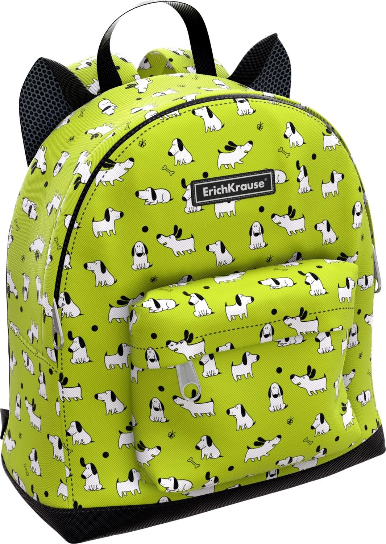 Купить Рюкзак EasyLine. Mini Animals. Dogs , 25x11x27 см [44883], Erichkrause, Светло-зеленый салатовый, полиэстер, Рюкзаки и ранцы для школы