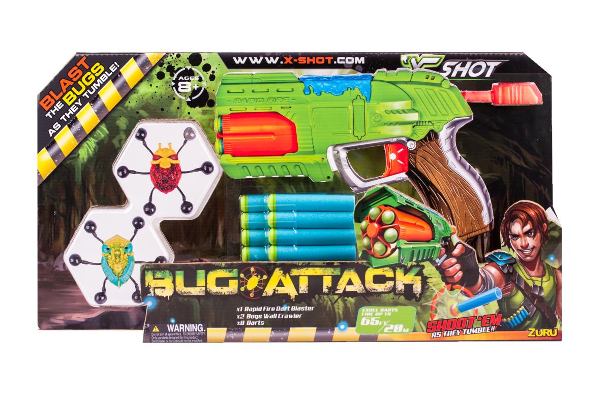 Купить Бластер X-SHOT 4801 Бластер Быстрый Огонь Атака пауков , пластмасса, металл, вспениная резина, Для мальчиков, Китай, Игрушечное оружие и бластеры